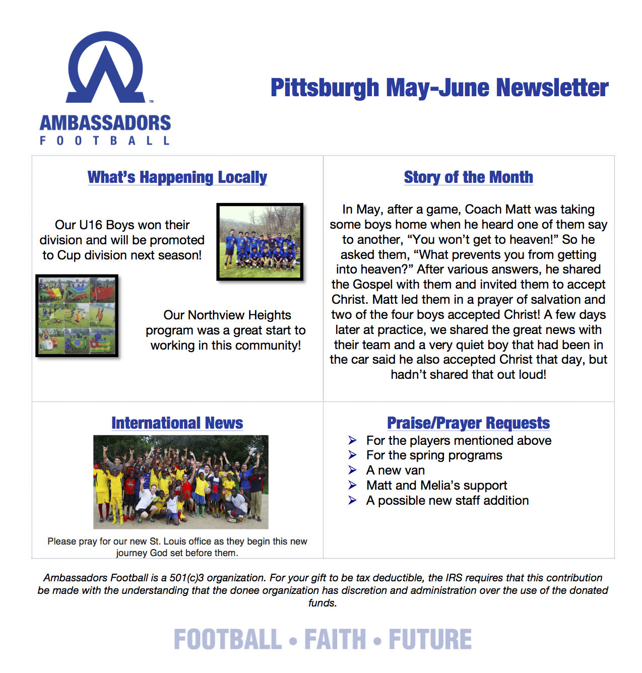May June Newsletter